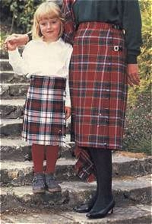 Picture of Ladies Kilted Tartan Skirt (Apron front)