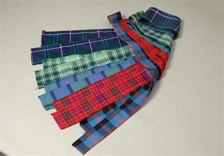 Picture of Tartan Strips, sewn to Ribbon Width