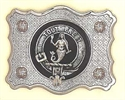 Picture of Buckle for Kilt Belt, SHAPED, with Clan Crest
