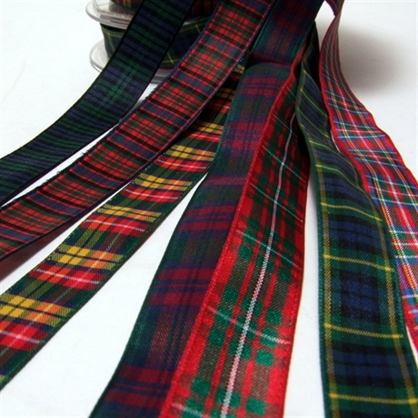 Picture of Ribbon Tartan Polyester 16mm