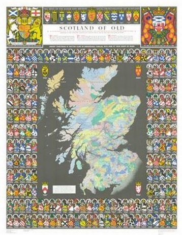 Picture of Scotland of Old, Historical Map
