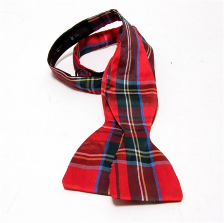 Picture of Bow Tie, (Self-tie) Dupion Silk Tartan