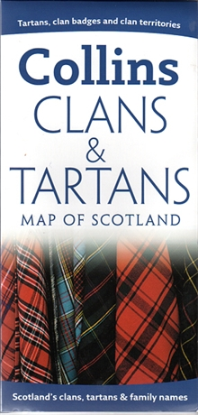 Picture of Clans & Tartans Map of Scotland
