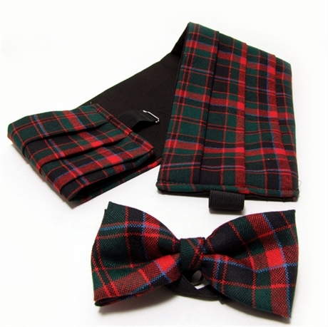 Picture of Cummerbund & Bow -Tie Set Lightweight Wool