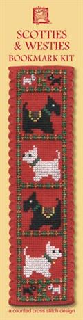 Picture of Cross Stitch Bookmark  Kit - Scotties & Westies
