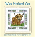 Picture of Cross Stitch Coaster Kit - Hieland Coo