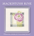 Picture of Cross Stitch Coaster Kit - Macintosh Rose