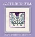 Picture of Cross Stitch Coaster Kit - Scottish Thistle