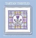 Picture of Cross Stitch Coaster Kit - Tartan Thistle