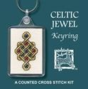 Picture of Cross Stitch Keyring Kit - Celtic Jewel