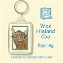 Picture of Cross Stitch Keyring Kit - Hieland Coo