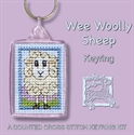 Picture of Cross Stitch Keyring Kit - Wee Wooly Sheep