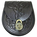 Picture of Sporran Style Handbag, Celtic Leather, Celtic Dragon