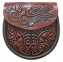 Picture of Sporran Style Handbag, Celtic Leather, Celtic Bird
