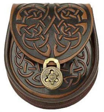 Picture of Sporran Style Handbag, Celtic Leather, Celtic Interlace