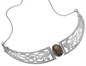 Picture of Necklet Sterling Silver with Smoky Quartz
