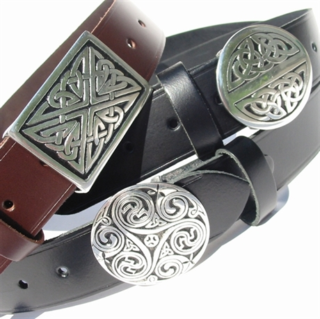 Picture of Snap Belt & Pewter Buckle (Genuine British Leather)