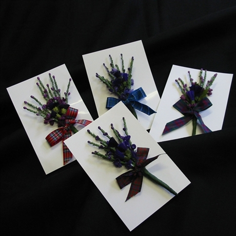 Picture of Corsage with Tartan Ribbon
