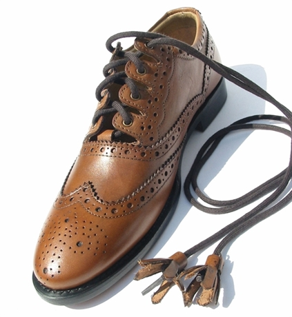 Picture of Ghillie Brogues Camel Brown Shoes