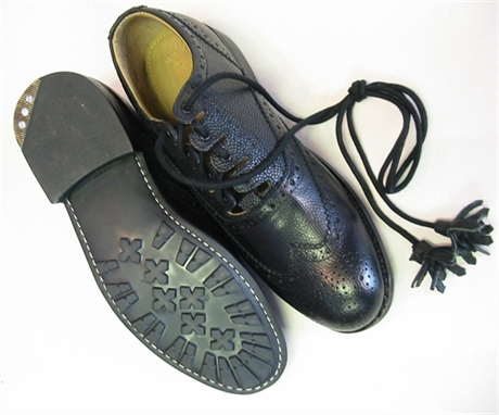 Picture of Regimental Ghillie Brogues Black Shoes