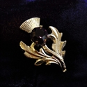 Picture of Mini Plaid Brooch Thistle