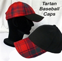 Picture of Tartan Baseball Caps (from Stock)