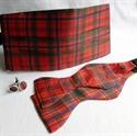 Picture of Cummerbund, Selftie Bow-tie and Cufflink Set, in ANY Tartan