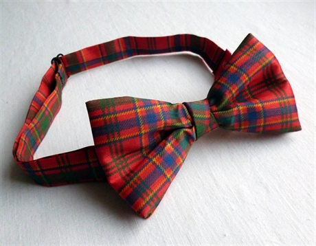Picture of Bow Tie & Self-Tie Set, Dupion in ANY Tartan