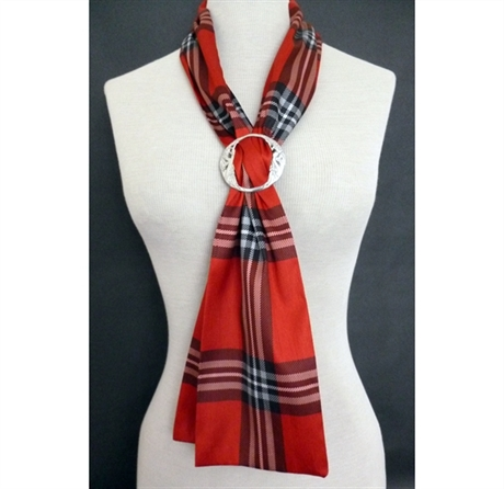 Picture of Ladies Scarf in Any Tartan with Celtic Ring