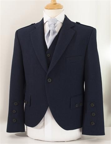 Picture of Highland Semi-Formal Jacket & Waistcoat (Navy)