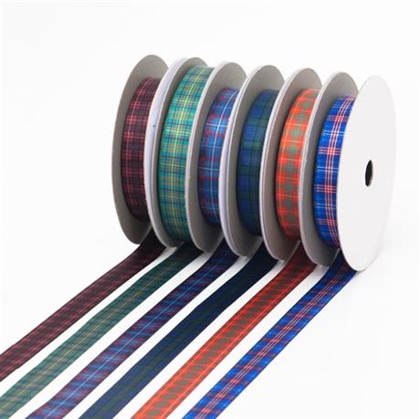 Picture of Tartan Ribbon, Sateen Polyester in 700 Stock-List Tartans, 15mm