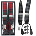 Picture of Braces, Tartan Suspenders. 2 in 1, Clip & Button