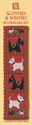 Picture of Cross Stitch Bookmark  Kit - Scotties & Westies